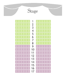 Chamber stage of Bolshoi Theatre seating plan