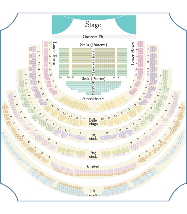 Bolshoi Theatre - Main (Historical) Stage seating plan